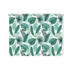 Rolgordijn Tropische bladeren patroon   De rolgordijnen van YouPri zijn iets heel bijzonders! Maak keuze uit een verduisterend of een lichtdoorlatend rolgordijn. Inclusief ophangmechanisme voor wand of plafond! #rolgordijn #gordijn #lichtdoorlatend #verduisterend #goedkoop #voordelig #polyester #tropisch #bladeren #blad #patroon #groen #tropen #natuur #natuurlijk