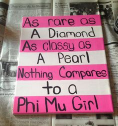 """Pinned from """"Phi Mu Connection"""" - a Facebook group for sisters to share craft ideas :) LIOB <3"""