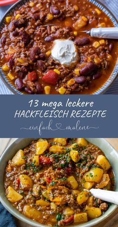 13 simple brilliant recipes with minced meat - simply Malene - Recipes with minced meat are perfect for spontaneous and simple cooking. So many great dishes can b - Hamburger Dishes, Homemade Muesli, Good Foods For Diabetics, Food Items, Fruits And Veggies, New Recipes, Delicious Recipes, Breakfast Recipes, Food And Drink