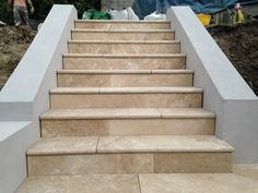 Image result for travertine stairs from deck