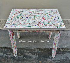 Uma mesa colorida à la Pollock » Além da Rua Atelier
