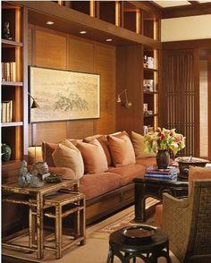 Paneled Wall Niche for Sofa