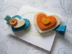 Layered Hearts Hair Clip
