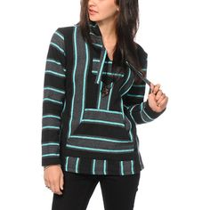 A pre-shrunk design ensures a great fit with a mint, black, and charcoal stripe pattern throughout for a stylish look.