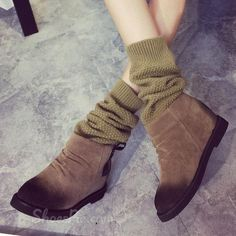 cool Shoespie Chic Flat Boots