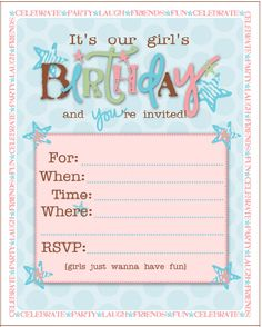Making DIY birthday invitations? If you have several birthday party themes for girls picked out and you want the right invitation to go with them, these ideas can help.