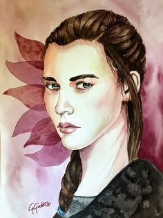 Girl with grey eyes Watercolour portrait by Giulia Gatti Watercolor Portraits, Watercolor Paintings, Damask Rose, Gray Eyes, Red Earrings, Watercolor And Ink, Watercolors, Grey, Gallery