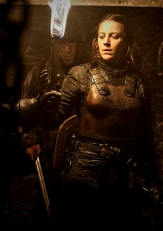 Asha Greyjoy, so happy to see her again.  This scene was heartbreaking, but I hope that it is not the last time she tries to save her little brother