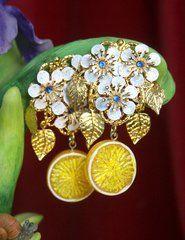 Lemon Yellow, Handmade Jewelry, Brooch, Inspired, Handmade Jewellery, Brooches, Jewellery Making, Diy Jewelry, Craft Jewelry