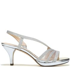 For your next great occasion, the Noralee 1 Pump from Touch of Nina.Synthetic upper in a dress sandal style with an open toeSlip on entry with elastic panelsGlitter overlays with mesh panelsSoft lining with a comfort footbedDurable traction and heel Quinceanera Shoes, Pump Shoes, Pumps, Womens Summer Shoes, Dress Sandals, Dress Shoes, Latest Shoe Trends, Wedding Shoes, Wedding Nails