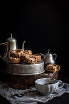 Oolong Donuts with a Milk Tea Glaze. #food #tea #doughnuts #donuts