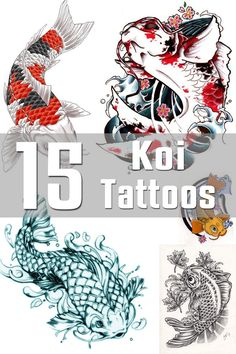 15 Koi Tattoo Designs | The Body is a Canvas