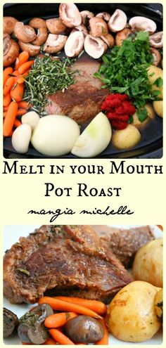 Easy slow cooker pot roast vegetables - make this your go to comfort food recipe all winter long ~ www.mangiamichelle.com