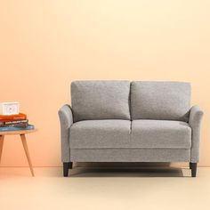 Looking for Zinus Jackie Classic Upholstered Inch Sofa Couch / Loveseat, Soft Grey ? Check out our picks for the Zinus Jackie Classic Upholstered Inch Sofa Couch / Loveseat, Soft Grey from the popular stores - all in one. Leather Loveseat, Sleeper Sofas, Sectional Sofas, Leather Sectional, Couches, Couch Sofa, Bedroom Seating, Small Sofa