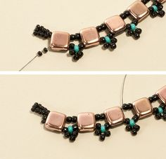 CzechMates Beaded Twist Necklace: End the Thread МК