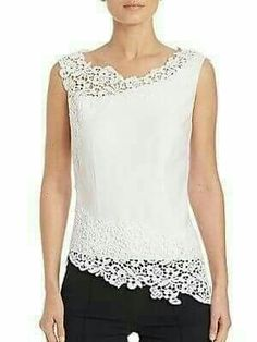 Ideas For Sewing Clothes Lace Outfit Crochet Clothes, Diy Clothes, Clothes For Women, Blouse Styles, Blouse Designs, Dress Patterns, Sewing Patterns, Kleidung Design, Sewing Blouses