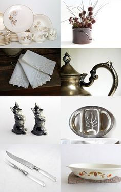 Get Set by gazaboo.etsy.com #HolidayTable #Thanksgiving #Tableware #Vintage #VintageAndMain