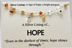 Gold and Silver Beaded Hope Necklace  by SimpleSilverLinings