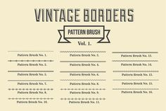 Vintage Borders Pattern Brushes by G7 on @creativework247