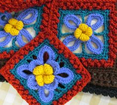Colors On Hand For Rosanna Crochet Afghan Pattern | skerin