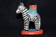 Vintage Folk Art Zebra Candlestick, Clay Hand Painted Zebra Candle Holder, African Animals Pottery, Safari Taper Candlestick, Pottery Zebra by FabulousVintageStore on Etsy