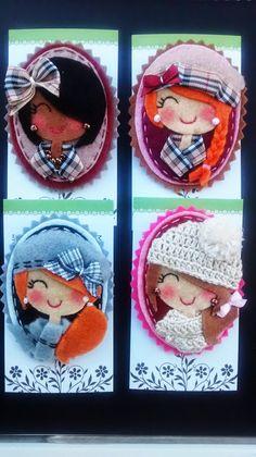 Fabric Brooch, Felt Brooch, Felt Crafts Patterns, Fabric Crafts, Hobbies And Crafts, Diy And Crafts, Clothespin Dolls, Felt Applique, Felt Diy