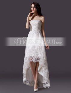Standesamtkleider Hochzeitskleider standesamt spitze vokuhila kleid [#UD9183] - schoenebraut.com