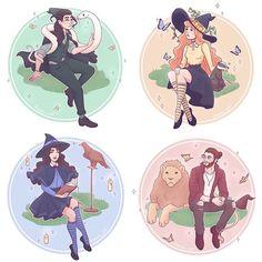 Salazar,Rowena,Helga, Godric