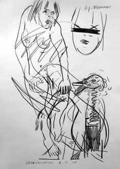 """LEDAVARIATION"" Drawing by H.-J. BERGMANN"