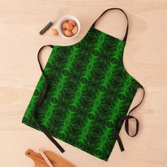 Green Pattern, Black Tie, Emerald Green, Print Design, Apron, Women's Fashion, Abstract, Printed, Chic