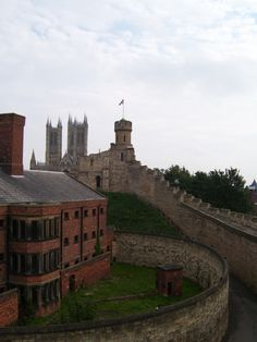 """""""Lincoln Cathedral and Castle Walls, Lincoln"""" by Lauren Daniells at PicturesofEngland.com"""