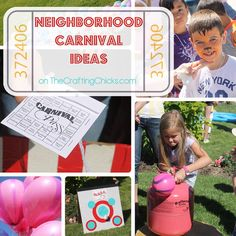 How to Throw a Neighborhood Carnival. Great ideas and tips!  #party  #fall  #summer