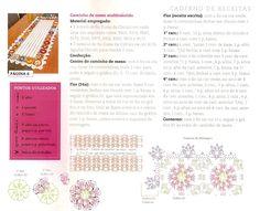 Caminho De Mesa Em Crochê Com Flores Coloridas - Cantinho da Agulha
