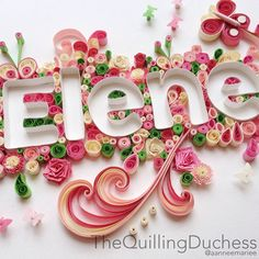 Commissioned quilling art by The Quilling Duchess Paper Quilling Tutorial, Paper Quilling Cards, Paper Quilling Designs, Quilling Craft, Quilling Ideas, Atelier Creation, Origami, Quilling Letters, Flower Boxes