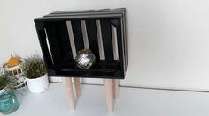 Home made wooden standing shelf