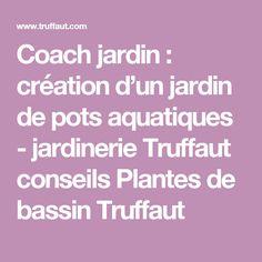 Coach jardin : création d'un jardin de pots aquatiques - jardinerie Truffaut     conseils Plantes de bassin Truffaut