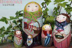 【楽天市場】「yucoon art works」マトリョーシカ「SHYLPH シルフィーさん」中5個組11cm【マトリョーシカ】:RUINOK2 ルイノク2