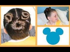 ▶ Not So Hidden Mickey Hairstyle Tutorial - A CuteGirlsHairstyles Disney Exclusive - YouTube