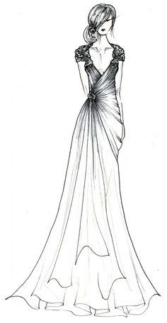 black label #wedding #gown fall 2014 collection #sketch from @L a Farme / Anne Barge