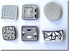 Polymer clay ideas for Zentangles