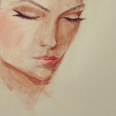 #Watercolor #Portraits by me