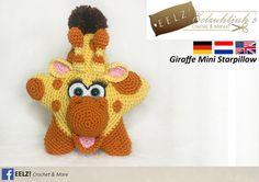 Mini Star Pillow Giraffe  Crochet Pattern by EELZcrochet on Etsy