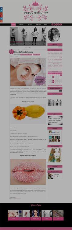 Template para Blog Feminino: cliente Verso Feminino - Cantinho do blog Layouts e Templates para Blogger