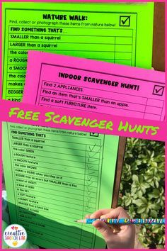 Free Scavenger Hunt printable + tips for incorporating exercise and movement into your speech therapy sessions. These hand-on activities are well suited for children with ADD, ADHD, sensory needs and processing disorders. | Creative Speech Lab