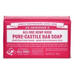 Dr. Bronner's Rose Pure-Castile Bar Soap - 5 oz.