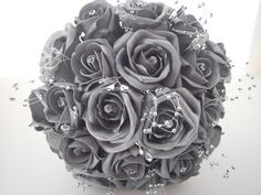 Silver roses - goes with the color theme