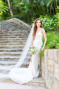 Stunning Bride ready for Tropical Wedding Wedding Event Planner, Wedding Events, Destination Wedding, Tropical Wedding Dresses, Flowing Dresses, Bride, Gallery, Photography, Beautiful