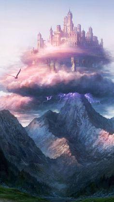 Fantasy landscape art castles posts ideas for 2019 Fantasy City, Fantasy Castle, Fantasy Places, Fantasy World, Fantasy Story, Final Fantasy, Fantasy Artwork, Fantasy Landscape, Landscape Art