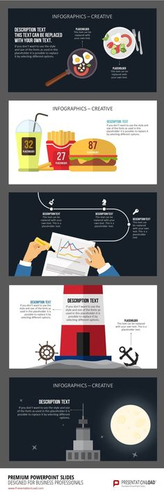 This set of infographic PowerPoint templates includes a large ...
