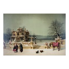 American Winter Scene Poster   Illustration by C.F. Witman published & printed by Joseph Hoover, Philadelphia, copyright 1874 (https://twitter.com/HawCreekShop/status/532370779225460736) (http://haw-creek.com/shop/american-winter-scene/)